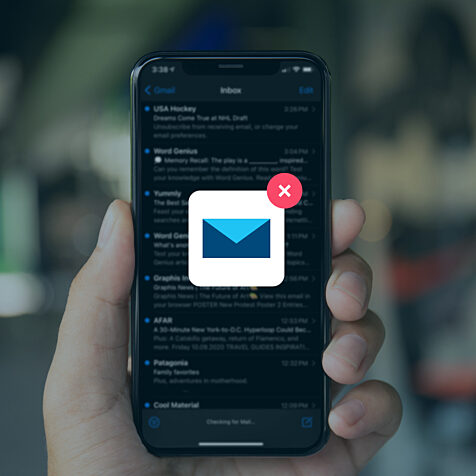 iphone with email notification